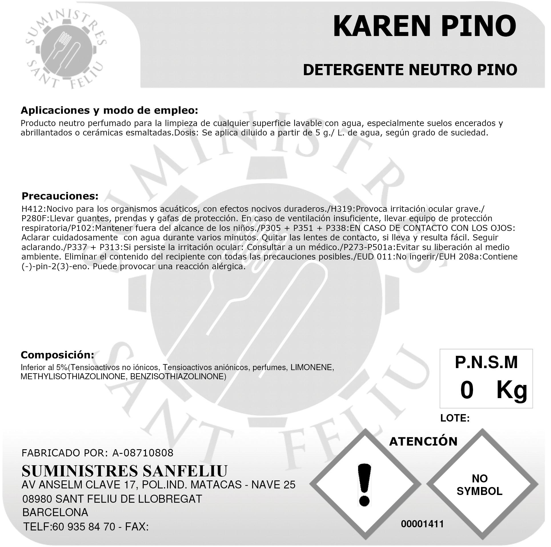 Limpiador Neutro Aroma Pino