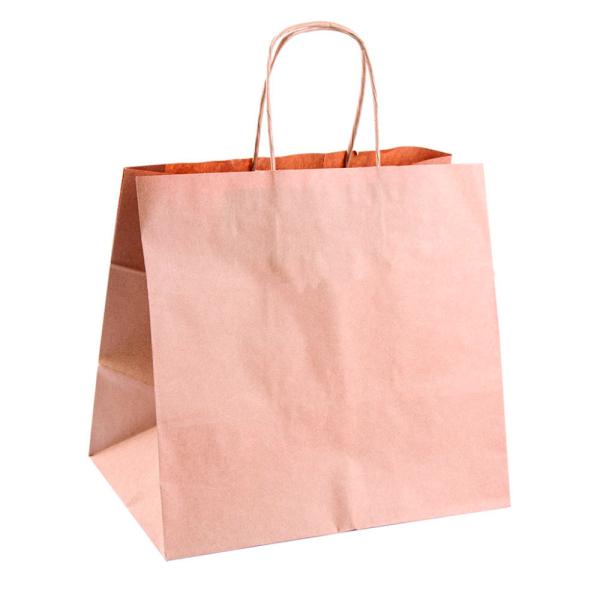 Bolsa papel Kraft con Asa Plana Especial Take Away