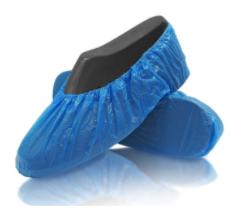 Caja 1000 und. Cubrezapatos Polietileno color azul