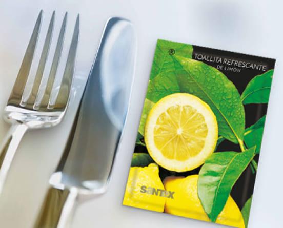 foto toallitas perfumadas olor limón