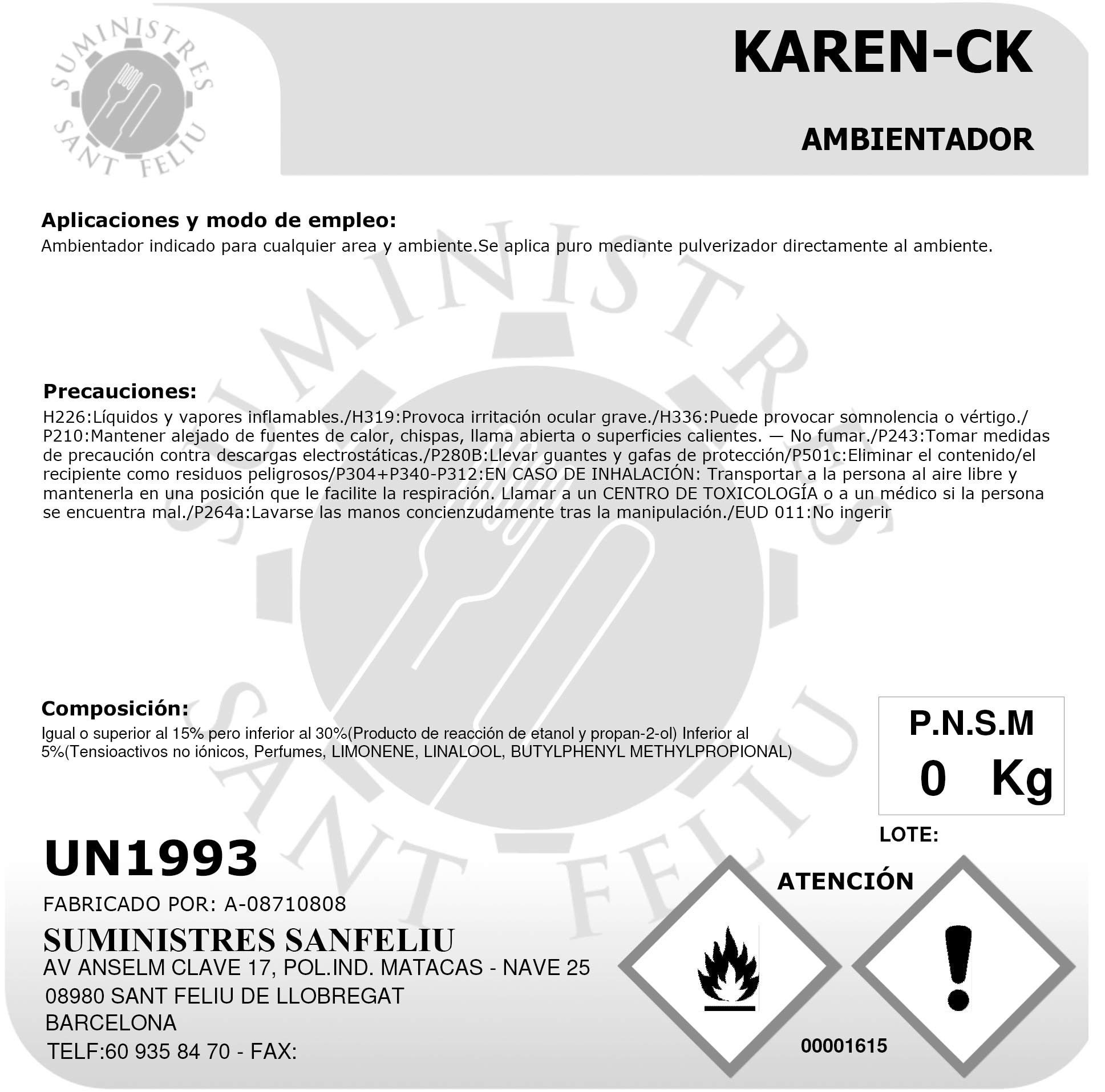 Ambientador Granel Aroma Calvin Klein One